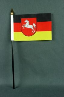 Kleine Tischflagge Niedersachsen 10x15 cm optional mit Tischfähnchenständer