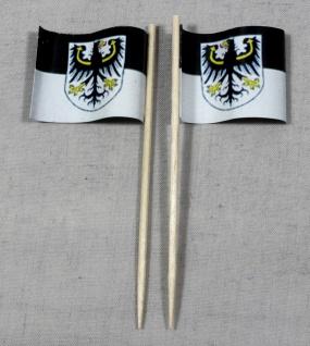 Party-Picker Flagge Ostpreußen Papierfähnchen in Spitzenqualität 50 Stück Beutel