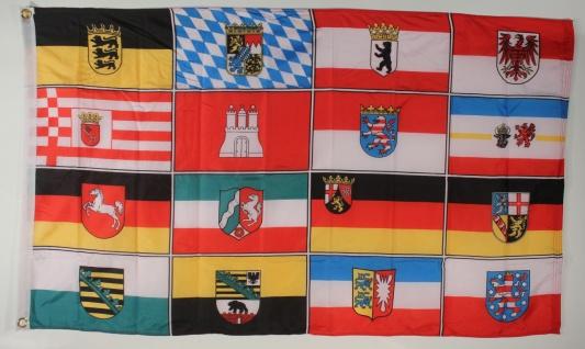 Deutschland 16 Bundesländer Flagge Großformat 250 x 150 cm wetterfest