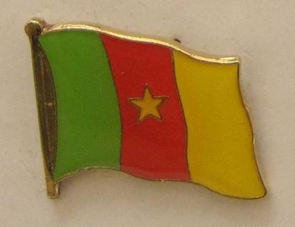 Kamerun Pin Anstecker Flagge Fahne Nationalflagge
