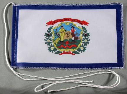 Tischflagge West Virginia USA Bundesstaat US State 25x15 cm optional mit Holz...