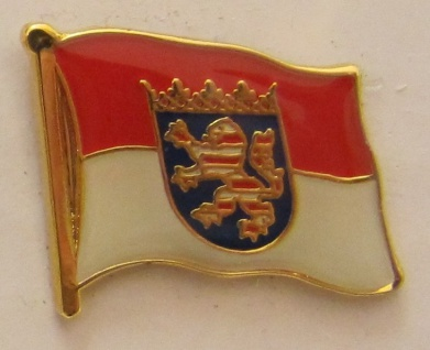 Pin Anstecker Flagge Fahne Hessen Landesflagge Flaggenpin Button Badge Flagge...