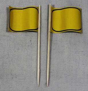 Party-Picker Flagge Ortsschild blanko Papierfähnchen in Spitzenqualität 50 St...