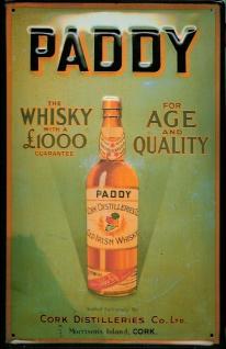 Blechschild Paddy Irish Whisky (1) Age Quality Cork Distilleries Irland Schil... - Vorschau