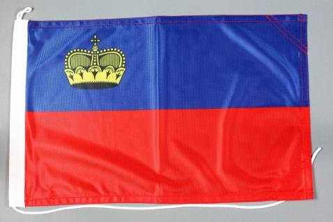 Bootsflagge Liechtenstein 30x45 cm Motorradflagge Bootsfahne
