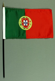 Tischflagge Portugal 15x25 cm BASIC optional mit Tischflaggenständer