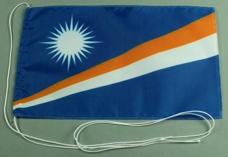 Tischflagge Marshall Inseln 25x15 cm optional mit Holz- oder Chromständer Tis...