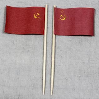 Party-Picker Flagge Sowjetunion UdSSR Papierfähnchen in Spitzenqualität 50 St...