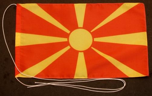Tischflagge Mazedonien 25x15 cm optional mit Holz- oder Chromständer Tischfah...