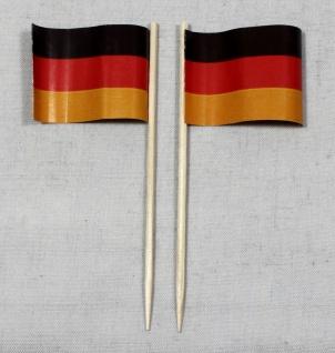 Party-Picker Flagge Deutschland Papierfähnchen in Spitzenqualität 50 Stück Be...
