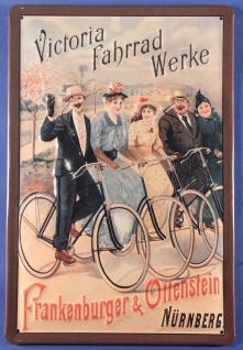 Blechschild Victoria Fahrrad Werke Nürnberg Nostalgieschild Schild