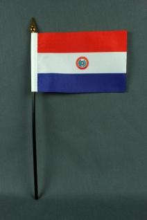 Kleine Tischflagge Paraguay 10x15 cm optional mit Tischfähnchenständer