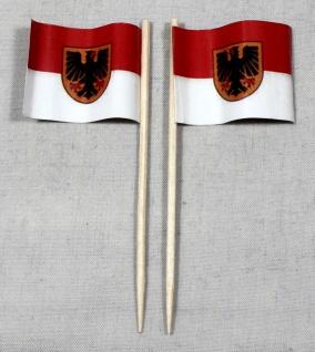 Party-Picker Flagge Dortmund Papierfähnchen in Spitzenqualität 50 Stück Beutel
