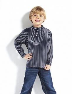 Kinder Fischerhemd - Basic - breitgestreift Kinderkleidung Hemd alle Größen B...