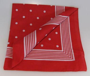Vierecktuch große Punkte 54x54 cm rot Halstuch