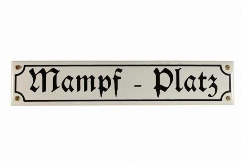 Strassenschild Mampf Platz 40x8 cm Email Kneipenschild Schild Emaille