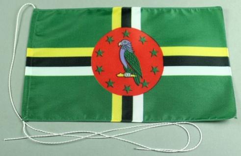 Tischflagge Dominica 25x15 cm optional mit Holz- oder Chromständer Tischfahne...