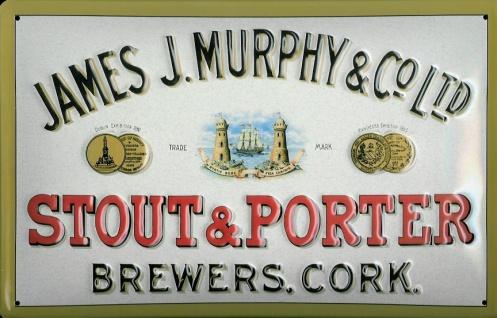 Blechschild Murphy Stout and Porter Brewers Cork retro Bier Schild Werbeschild