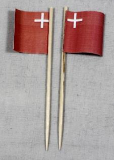 Party-Picker Flagge Schwyz Kanton Schweiz Papierfähnchen in Spitzenqualität 5...