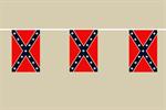 Südstaaten Flaggenkette 6 Meter / 8 Flagge Fahne