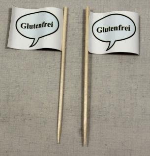 Party-Picker Flagge Glutenfrei Papierfähnchen in Spitzenqualität 50 Stück Beutel