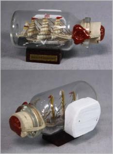 Buddelschiff Schulschiff Deutschland Bremen 5x2 cm Kühlschrankmagnet mit 10x3...