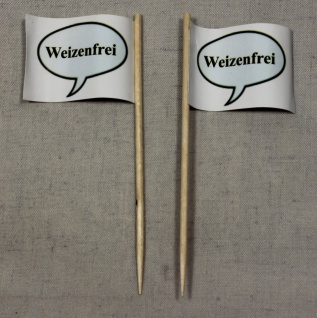 Party-Picker Flagge Weizenfrei Papierfähnchen in Spitzenqualität 50 Stück Beutel