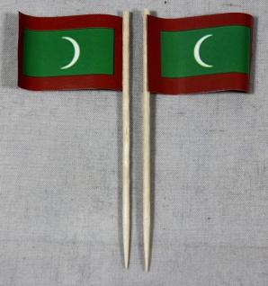 Party-Picker Flagge Malediven Papierfähnchen in Spitzenqualität 50 Stück Beutel