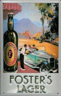 Blechschild Foster Lager Beer Bier Oldtimer Auto Schild retro Werbeschild