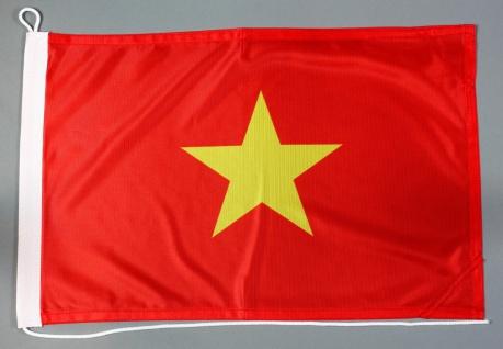 Bootsflagge Vietnam 30x45 cm Motorradflagge Bootsfahne