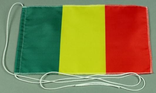 Tischflagge Mali 25x15 cm optional mit Holz- oder Chromständer Tischfahne Tis...