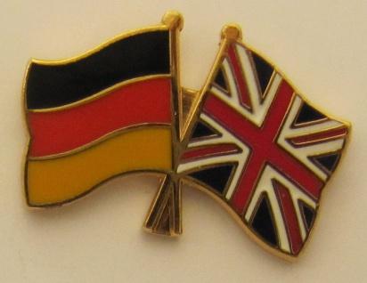 Großbritannien / Deutschland Freundschafts Pin Anstecker Flagge Fahne Nationa...
