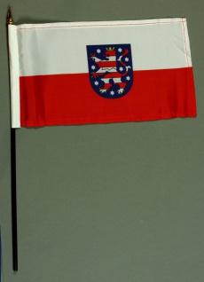 Tischflagge Thüringen 15x25 cm BASIC optional mit Tischflaggenständer