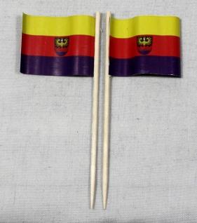 Party-Picker Flagge Emden Papierfähnchen in Spitzenqualität 50 Stück Beutel