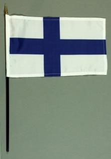 Tischflagge Finnland 15x25 cm BASIC optional mit Tischflaggenständer