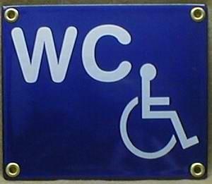 Emaille Schild WC Behinderte Toilette Behindertentoilette Emailleschild