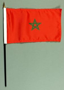 Tischflagge Marokko 15x25 cm BASIC optional mit Tischflaggenständer
