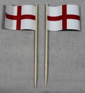 Party-Picker Flagge England Papierfähnchen in Spitzenqualität 50 Stück Beutel