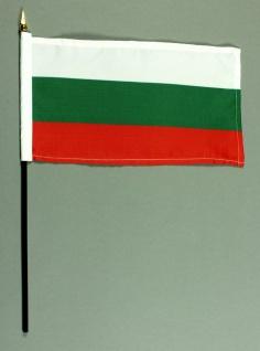 Tischflagge Bulgarien 15x25 cm BASIC optional mit Tischflaggenständer