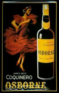 Blechschild Osborne Coquinero Seco Tänzerin Schild retro Werbeschild Spanien