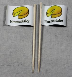 Party-Picker Flagge Emmentaler Käse Papierfähnchen in Spitzenqualität 50 Stüc...