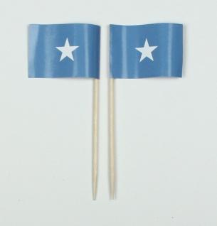 Party-Picker Flagge Somalia Afrika Papierfähnchen in Spitzenqualität 50 Stück...