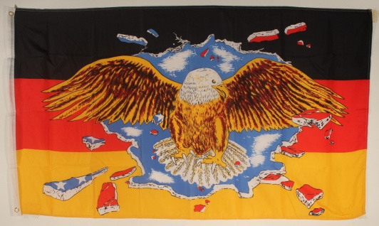 Flagge Fahne Deutschland mit breitem Adler