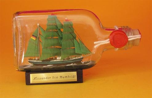 Alexander von Humboldt Buddelschiff Flachmann 0, 1 Liter ca. 14x7 cm Flaschens...