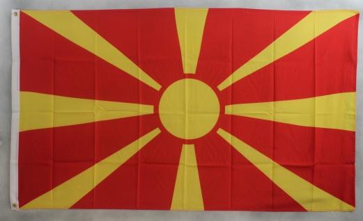 Flagge Fahne : Mazedonien 150x90 cm
