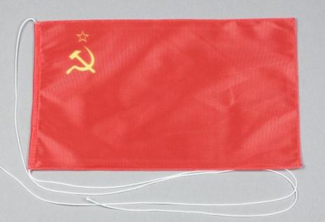 Tischflagge Sowjetunion UdSSR 25x15 cm optional mit Holz- oder Chromständer T...