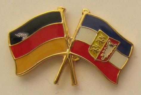 Schleswig Holstein / Deutschland Freundschafts Pin Anstecker Flagge Fahne Nat...