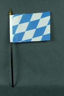 Kleine Tischflagge Bayern nur Raute 10x15 cm optional mit Tischfähnchenständer