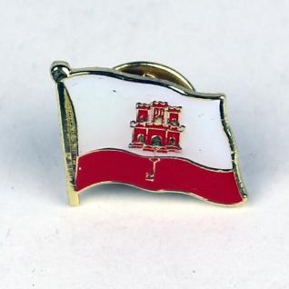 Pin Anstecker Flagge Fahne Gibraltar Flaggenpin Button Badge Flaggen Clip Ans...