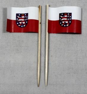 Party-Picker Flagge Thüringen Papierfähnchen in Spitzenqualität 50 Stück Beutel